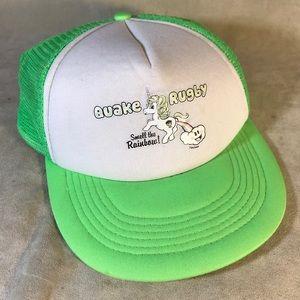 Other - Quake Rugby Unicorn Logo SnapBack Hat Green